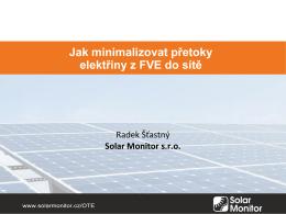 17_SolarMonitor_Jak minimalizovat přetoky elektřiny z FVE