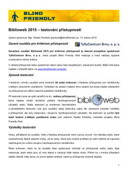 Biblioweb 2015 – testování přístupnosti