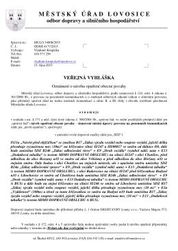 Navrh OOP Chotesov, Radovesice