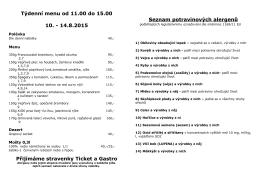 Týdenní menu od 11