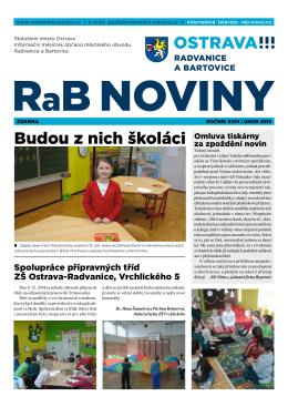 Budou z nich školáci - Radvanice a Bartovice