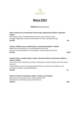 Menu 2015 - GreenYacht Hotel