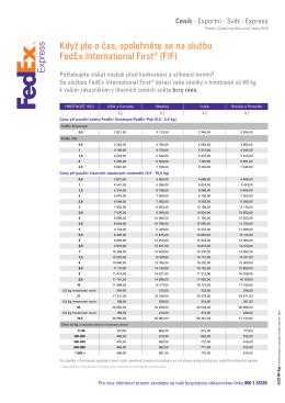 Když jde o čas, spolehněte se na službu FedEx International First