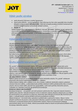 Jak vybrat KOMPRESOR (ve formátu PDF ke stažení )