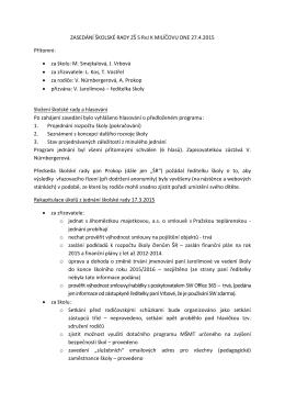 Zápis školské rady (246kB PDF)