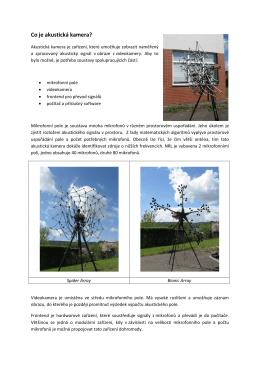 Co je akustická kamera? - Národní referenční laboratoř pro