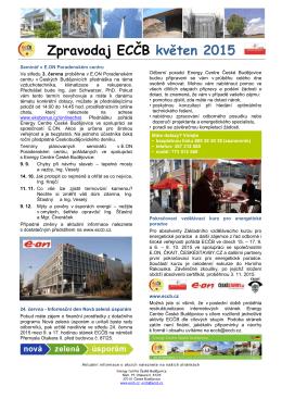 Zpravodaj ECČB květen 2015 - Energy Centre České Budějovice