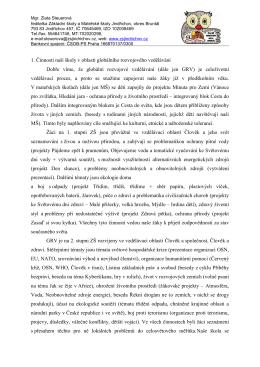 začlenění GRV kritérium 1 - ZŠ a MŠ Jindřichov, okres Bruntál