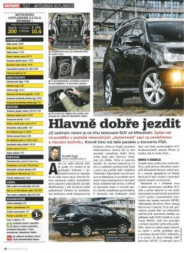 Hlavně dobře jezdit: Test Mitsubishi Outlander