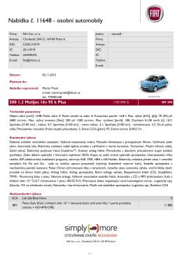 Nabídka č. 11648 - osobní automobily