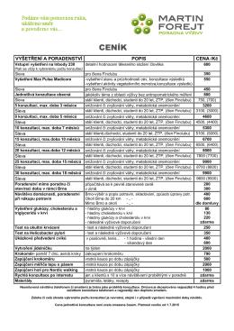 ceník ke stažení v pdf