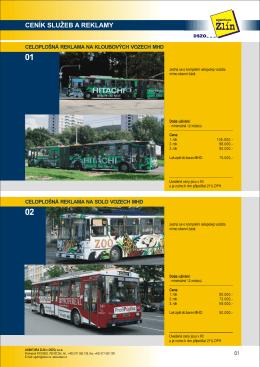 ceník služeb a reklamy - Dopravní společnost Zlín