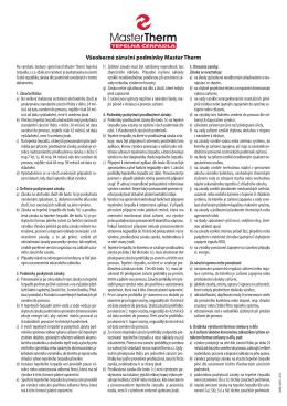 Všeobecné záruční podmínky v pdf
