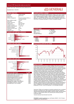 Generali CEE Dynamický balancovaný fond