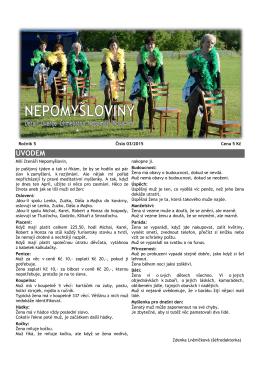 Nepomyšloviny - číslo 3/2015 - vydáno dne 1.4