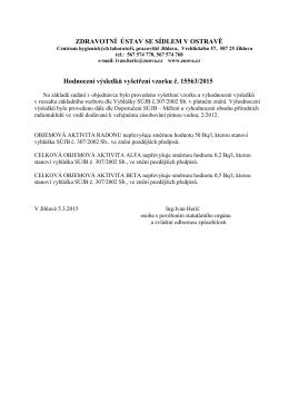 OBJEMOVÁ AKTIVITA RADONU 222 převyšuje směrnou hodnotu