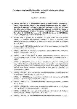 Přehled předpisů - Státní energetická inspekce