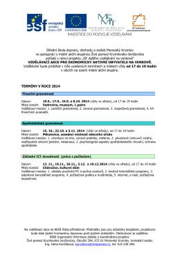 plakat 2014-2015 - Živé pomezí Krumlovsko