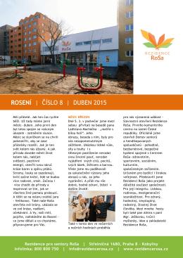 ROSENÍ | ČÍSLO 8 | DUBEN 2015