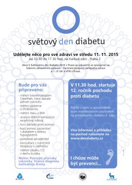 Pozvánka - Pochod proti diabetu