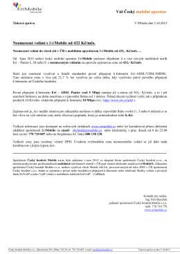 Tisková zpráva ze dne 5.10.2015