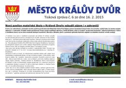 Tisková zpráva č. 6/2015