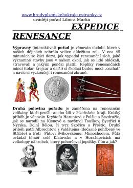 EXPEDICE RENESANCE - Hrady Plzeňského kraje