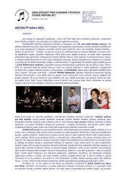 AKTUALITY duben 2015 - Společnost pro hudební výchovu České