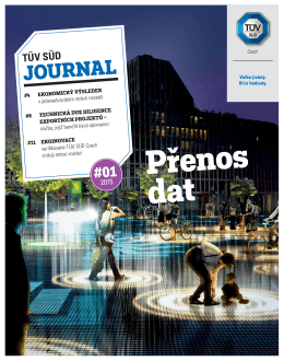 JOURNAL - TÜV SÜD Czech