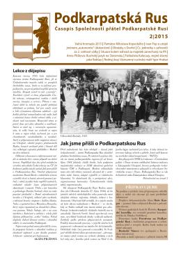 Podkarpatská Rus 2 - stránky společnosti přátel podkarpatské rusi