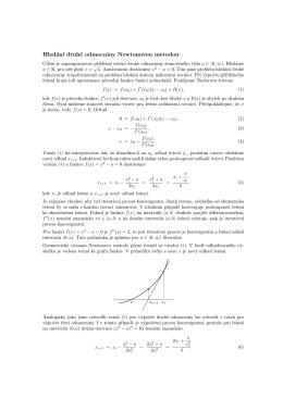 Hledání druhé odmocniny Newtonovou metodou