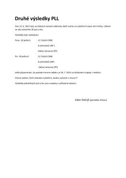Druhé výsledky PLL - jagdterierclub.cz