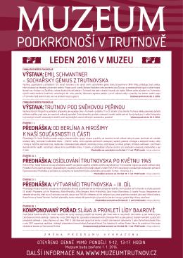 LEDEN 2016 V MUZEU - Muzeum Podkrkonoší v Trutnově