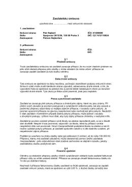 Zasílatelská smlouva - Kuryr