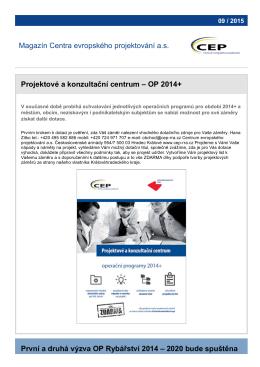 Magazín CEP – 09 / 2015 - Centrum evropského projektování