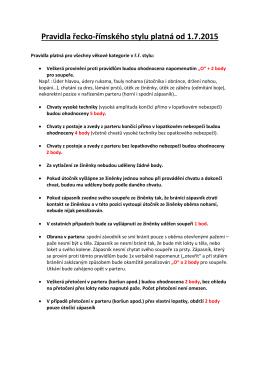2015 Změny pravidel pro ř.ř