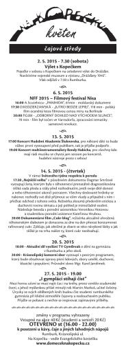 program květen 2015