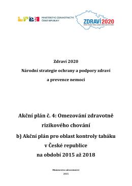 AP 4b Oblast kontroly tabáku v České republice