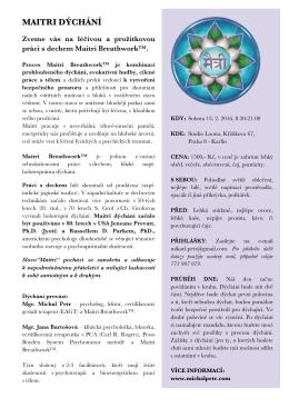 Pozvánka na Maitri dýchání v pdf