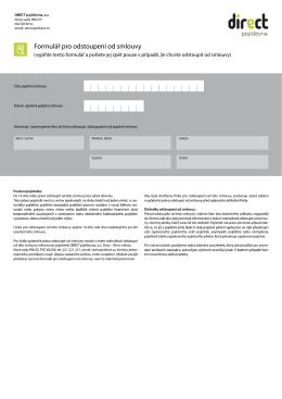 Formulář pro odstoupení od smlouvy