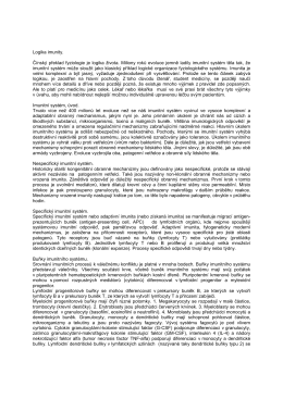 Scriptum - Imunita - Projekt endoskopie