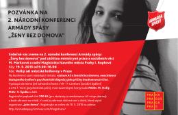 """pozvánka na 2. národní konferenci armády spásy """"ženy bez domova"""""""