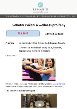 Sobotní cvičení a wellness pro ženy