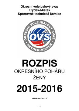 RS OPH ŽENY 2015-16 - Okresní volejbalový svaz Frýdek