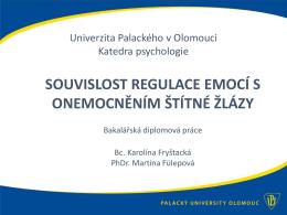 SVOČ_Fryštacká - Katedra psychologie Filozofické fakulty UP