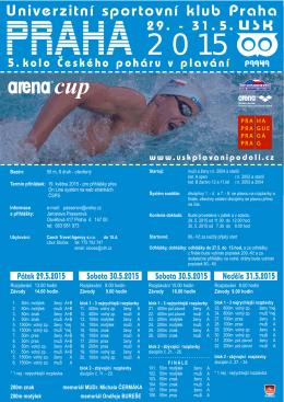 PRAHA 2015 - Statistika plavání