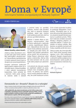 Doma v Evropě 2/2015 - Ing. Michaela Šojdrová
