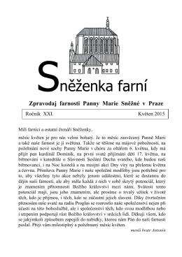 květen - Farnost Panny Marie Sněžné v Praze