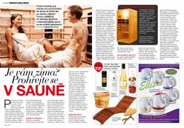 Časopis Vlasta - téma Zdravé saunování