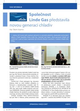 Společnost Linde Gas představila novou generaci